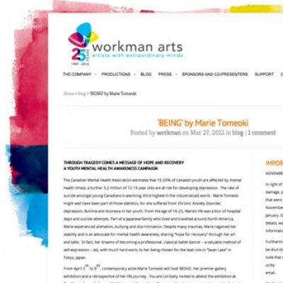 Marie Tomeoki - Workman Arts Article IMG
